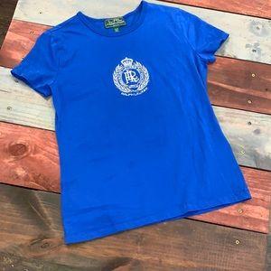 3 FOR $20 Lauren Active Ralph Lauren Blue Top PS